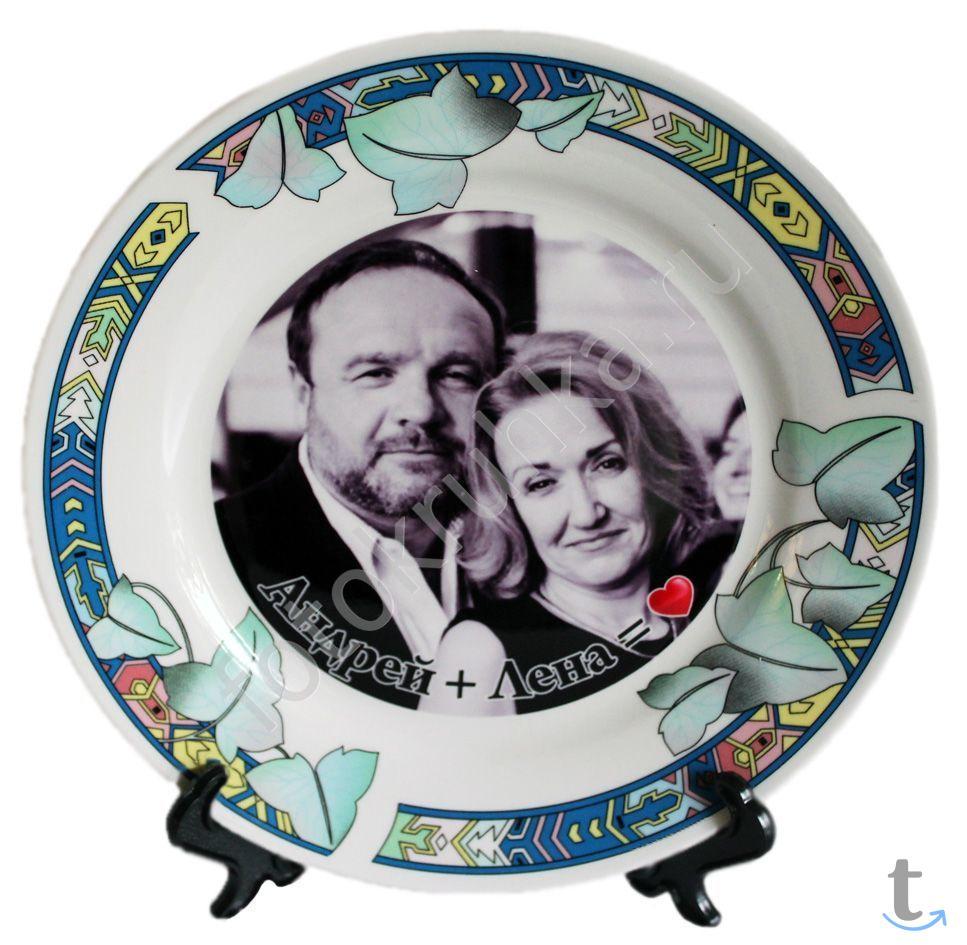 Печать фото, картинки на тарелке