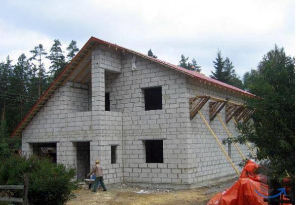 Строительство домов коттеджей бань из блоков