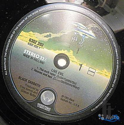 Пластинка виниловая Black Sabbath – Live Evil