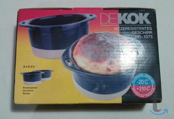 Горшочки DEKOK HR-1075 керамические жаропрочные новые