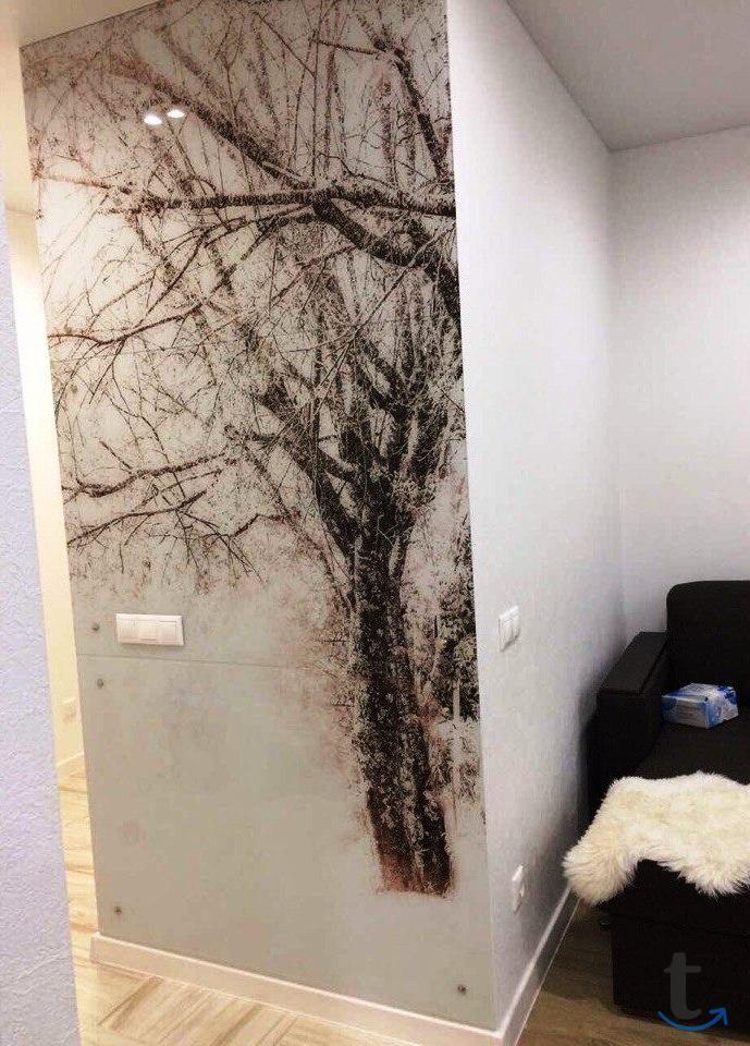 Стеновые панели из стекла с фото...