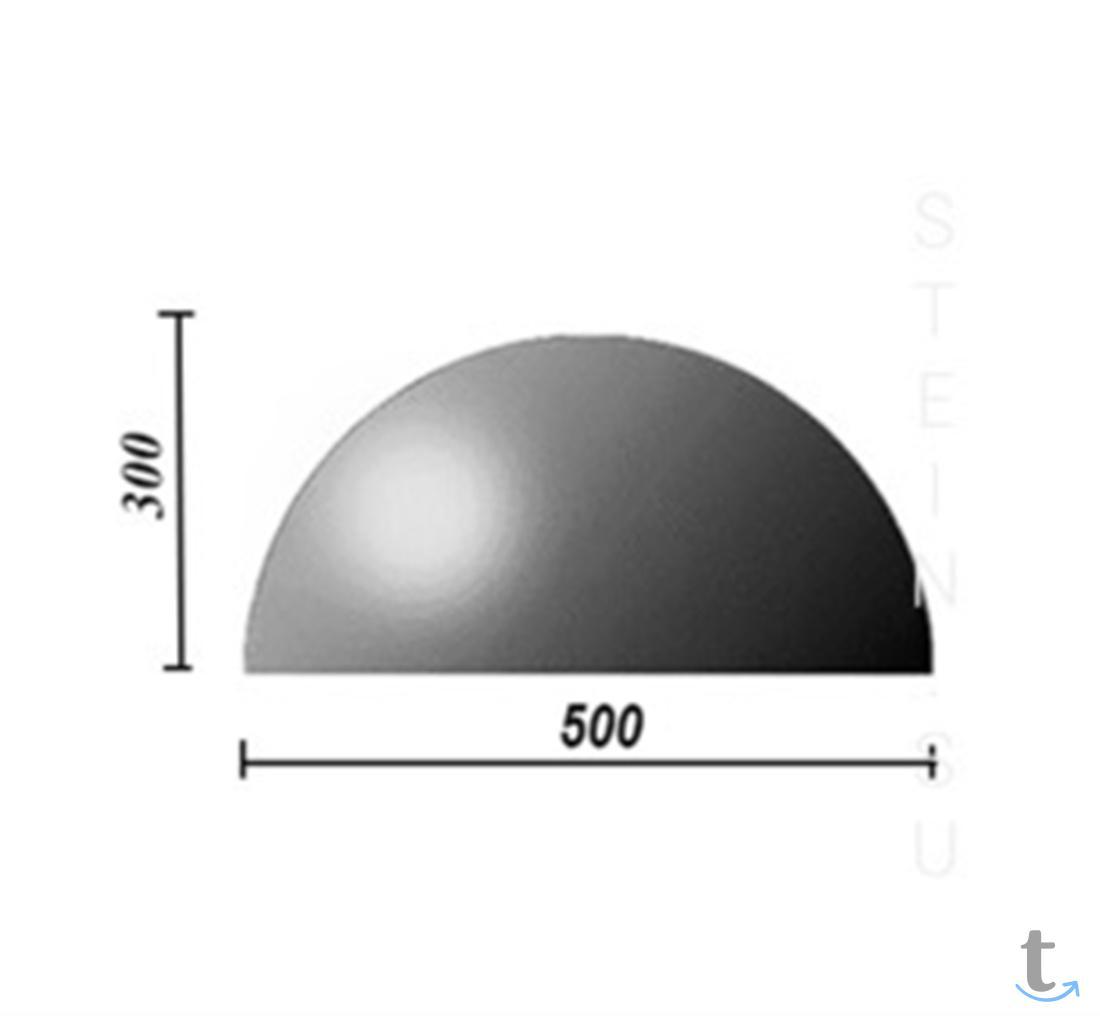 Бетонная полусфера d500хh250 мм.