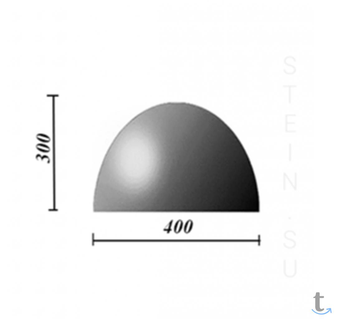 Бетонная полусфера d500хh300 мм.