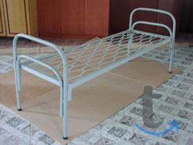 Кровати металлические с сеткой р...