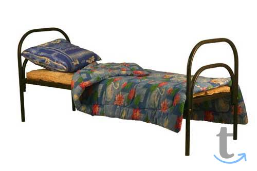 Металлические кровати со спинкам...