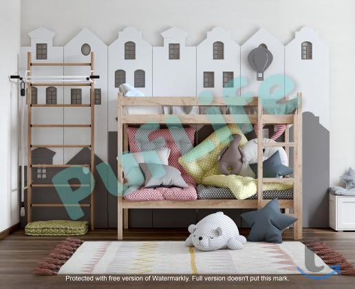Двухъярусные кровати из массива ...