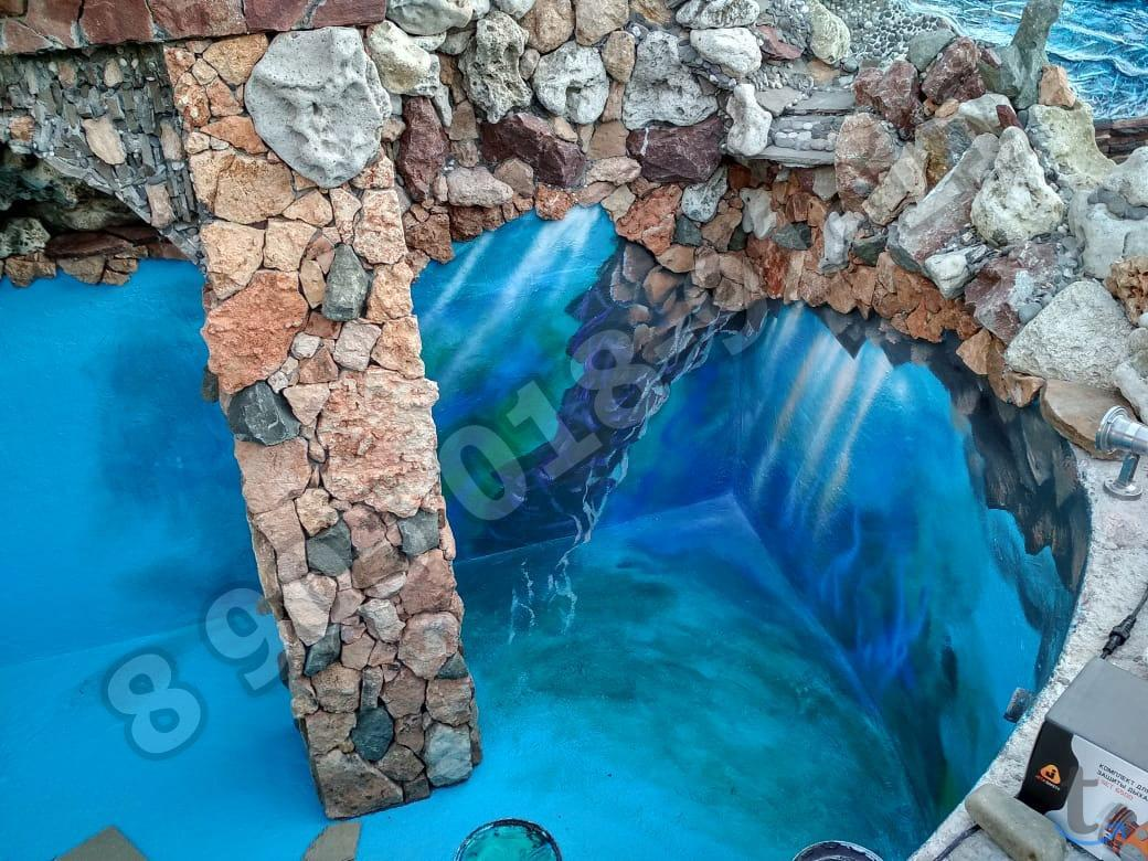 Резиновая краска для бассейна от...