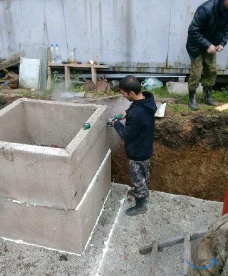 Строительство погреба, Фундамент...