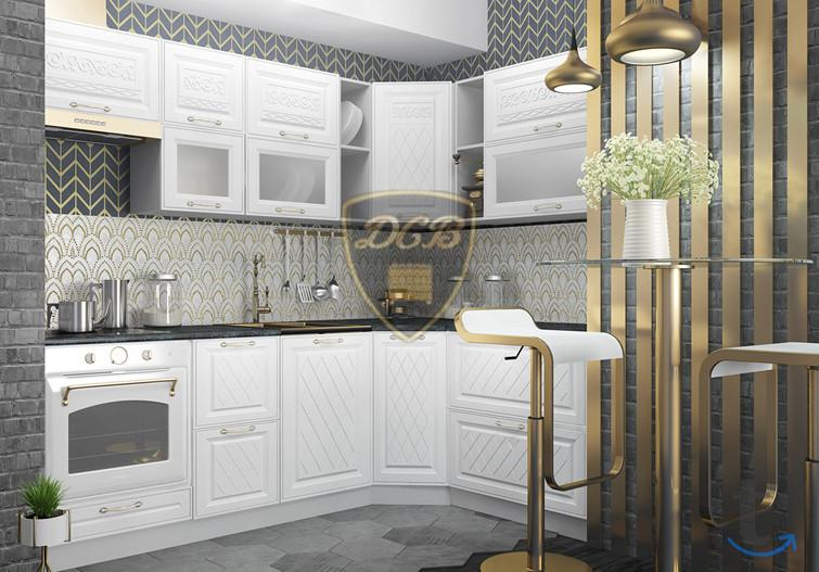 Кухня Вита угловая с пеналом 1650х2850 (модульная)