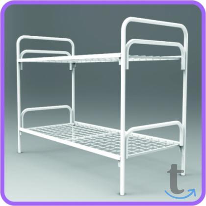 Кровати с прочными металлическим...
