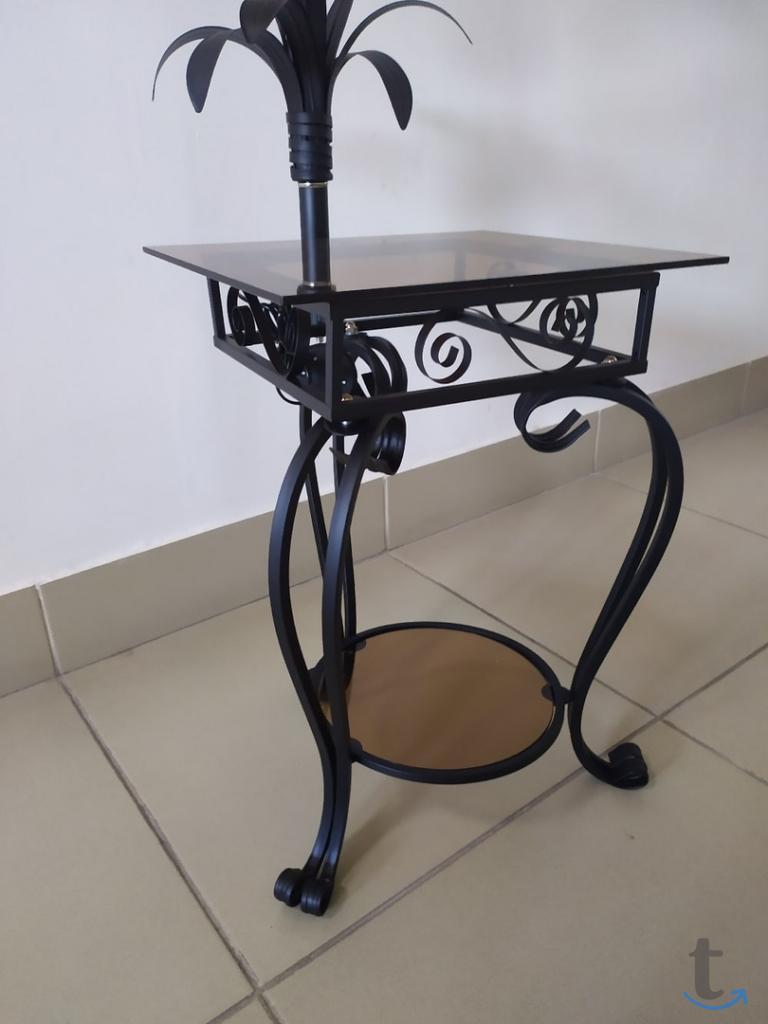 Кованый Торшер со столиком