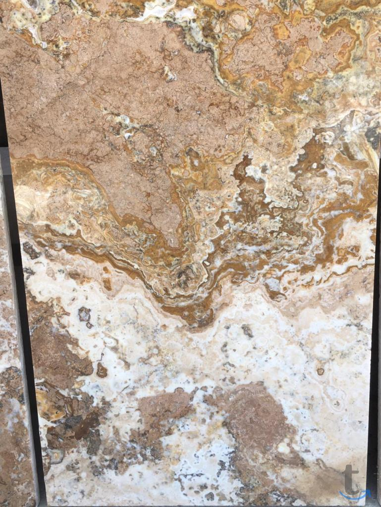 плитка камень с ониксом коричнев...