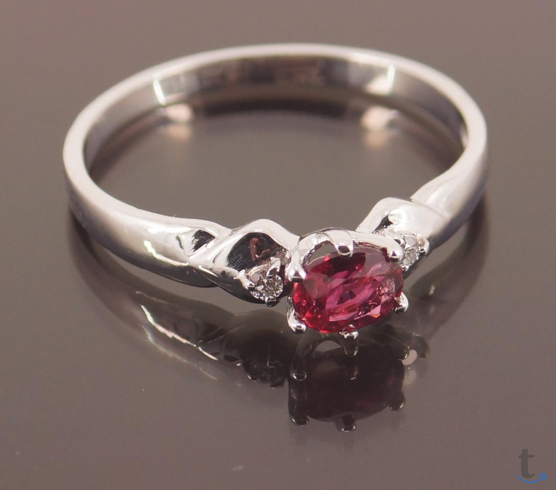 Золотое кольцо с не гретым Рубин...