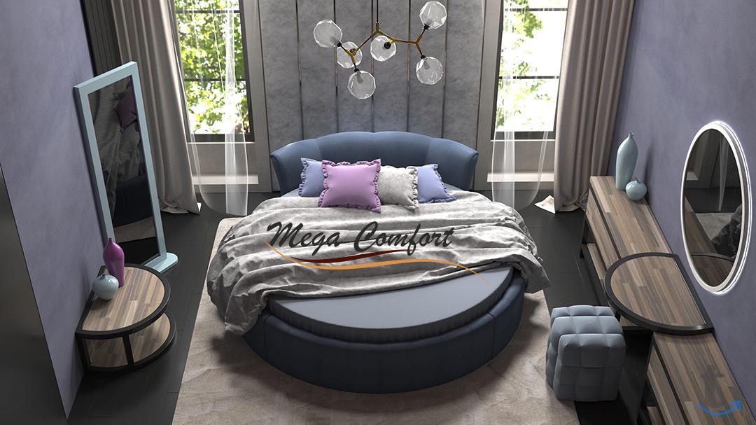Круглая двуспальная кровать «Жем...