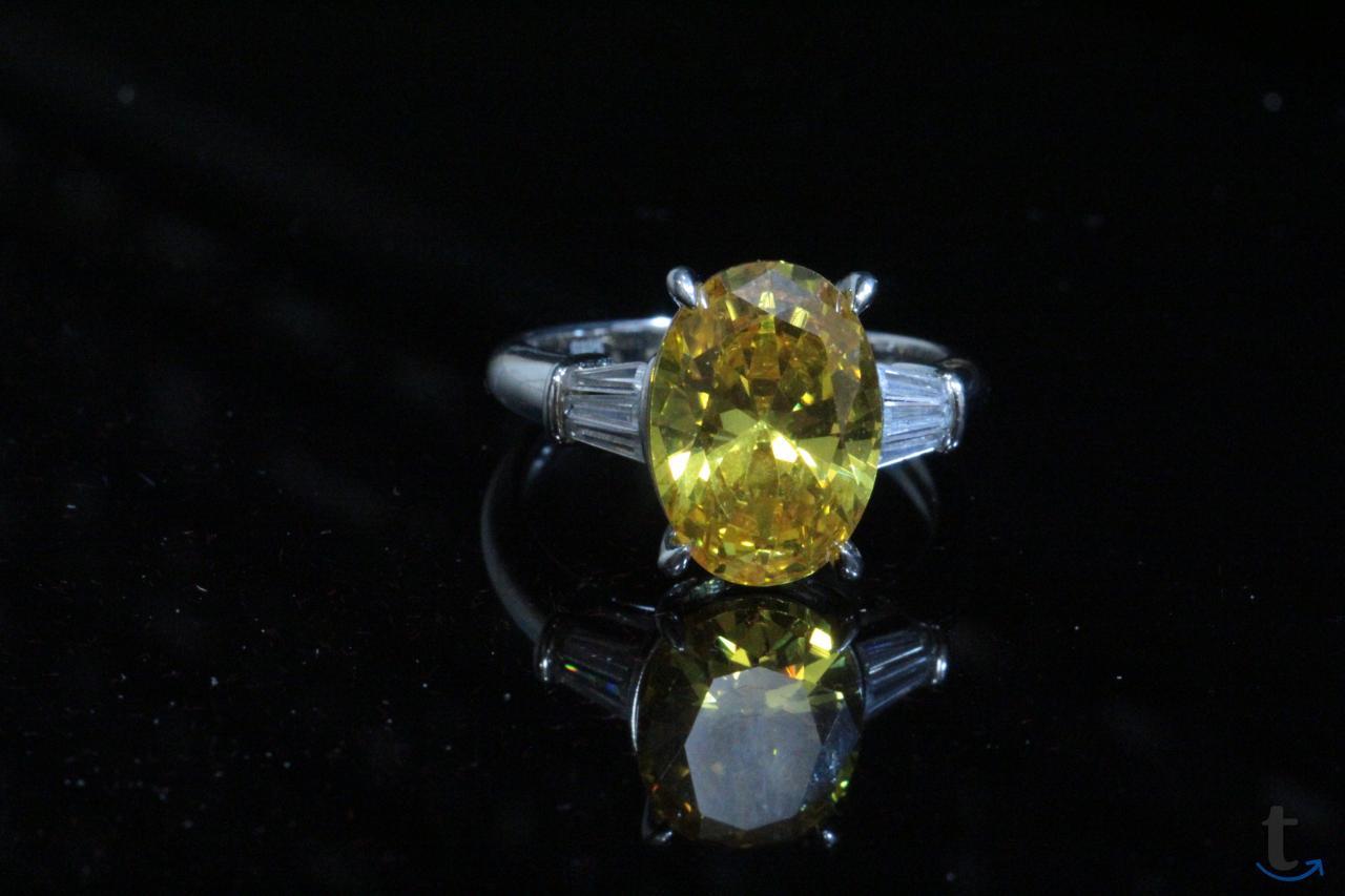 Кольцо серебряное с цитрином