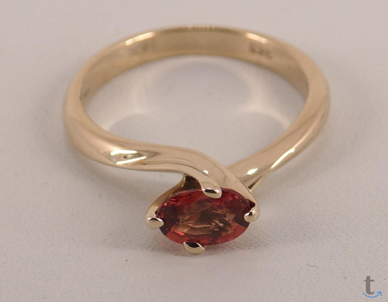 Золотое кольцо с оранжевым, не г...