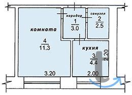 Продам 1-комнатную квартиру 22 кв.м