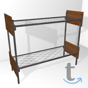 Двухспальные кровати металлические