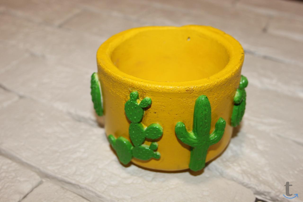 Кашпо для цветов из цемента кактусы