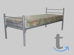 Кровати металлические одноярусны...