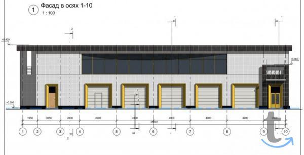 Проект магазина, склада, здания,...